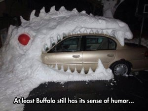 funny-car-dinosaur-eating-ice-snow