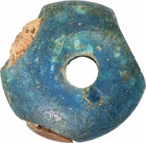 Mesopotamian-blue-glass-bead