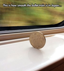 cool-coin-standing-bullet-train-Japan