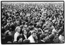 Crowd scene at outdoor concert