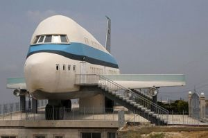 Airplane house is pictured in the village of Miziara, northern Lebanon