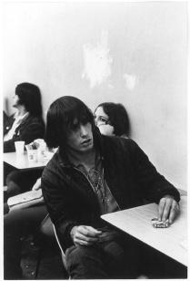 Hippies in diner