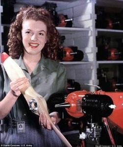Marilyn Monroe Assembling Drones During World War II (1) copy