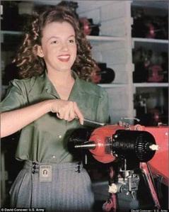 Marilyn Monroe Assembling Drones During World War II (2) copy