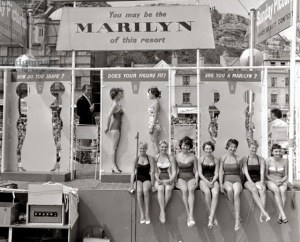 Marilyn Monroe look-a-like competition in Hastings, UK, ca. 1958