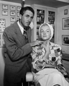 Marilyn Monroe making up in the Columbia Studios for the movie Ladies Of The Chorus, 1948 (5)