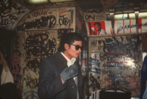 Michael Jackson on Subway, ca. 1980s