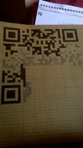 The only single sheet of graph paper I could find is brown with ¼