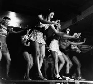 Chorus Girls at Harlem Theater, 1936