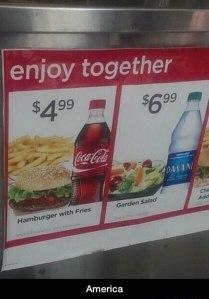funny-Coke-burger-water-price-salad