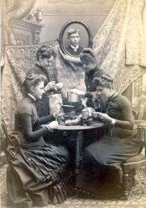 Ladies at tea, ca. 1880s
