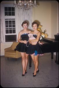 Pink dog piano recital, ca. 1950s