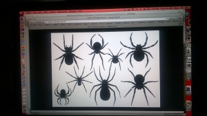 I did an image search for 'spider sihouette'