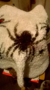 The tarantula, edged in brown