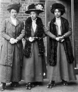 Victorian lady roller-skaters, ca. 1890s