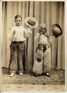 Cowboy and cowgirl, ca. 1920s
