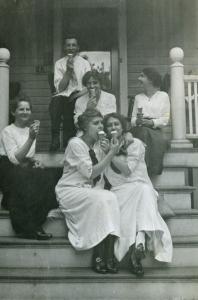 Edwardian ice cream fun, ca. 1915