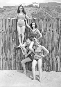 Ken Murray and Paramount girls at Malibu La Costa, 1931