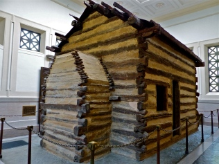 The alleged (or symbolic) birthplace of Abe Lincoln now sits in a huge granite building