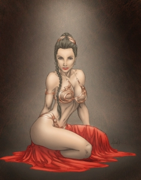 Princess-Leia-Bikini-16-Art-Drawing