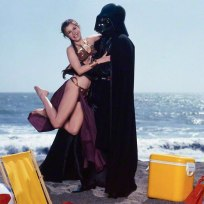 Princess-Leia-Bikini-Hot-Vintage-Photos-22-Beach-with-Darth-Vader