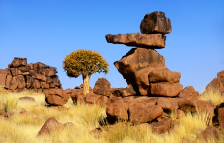 "The beautiful and unusual Rock Formations at the ""Giant's Playground"" just outside Keetmanshoop in Namibia. Martin Heigan mh@icon.co.za http://anti-matter-3d.com http://www.flickr.com/photos/martin_heigan"