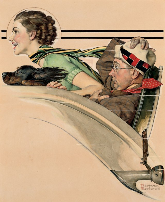 Couple in Rumbleseat c. 1935