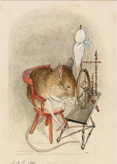 Mouse with a Spinning Wheel Beatrix Potter (c. 1890)