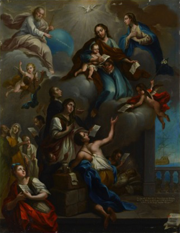 The Dream of Pharaoh and Joseph's rise to Viceroy of Egypt, 1774, Oil on copper 80 x 65 cm The Dream of Pharaoh and Joseph's rise to Viceroy of Egypt, 1774, Oil on copper 80 x 65 cm Inscribed lower right hand