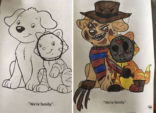 When Punks Goths Swipe Their Kids Coloring Books